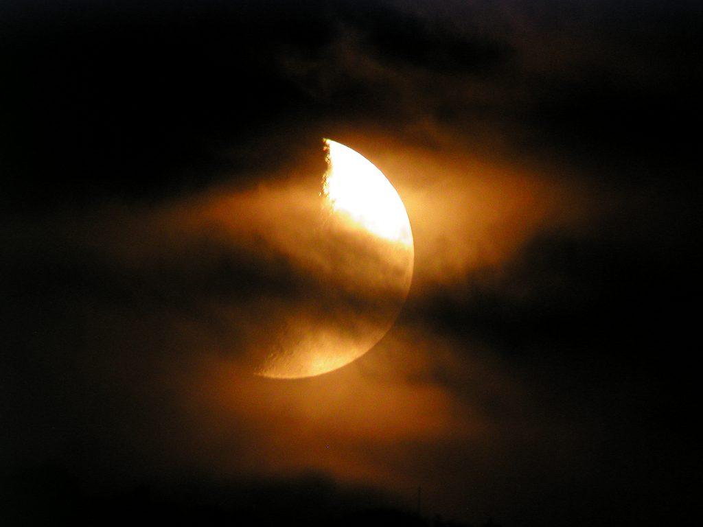 Cloudy Moon - Hooe Lake