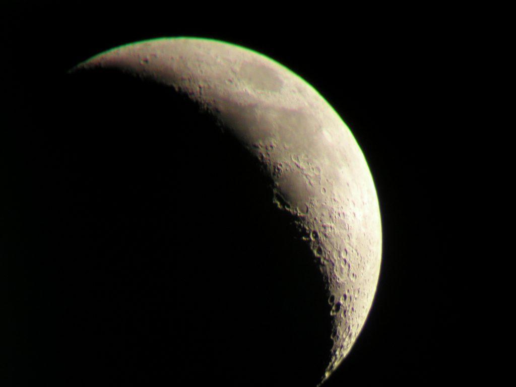Crescent Moon over Hooe Lake